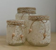 Creative Recycle – Kerzenhalter, Stifthalter & Blumentopfhalter – Ellise M. Creative Recycle – Candle Holders, Pen Holders & Flower Pot Holders – # Flower Pot Holders Holders Creative Recycle – Kerzenhalter, Stifthalter & Blumentopfhalter – Ellise M. Mason Jar Projects, Mason Jar Crafts, Bottle Crafts, Tin Can Crafts, Diy And Crafts, Pot Mason Diy, Pencil Crafts, Creation Deco, Decorated Jars