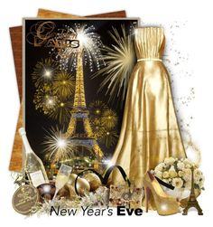 """""""Golden Paris New Year's Eve"""" by helenehrenhofer ❤ liked on Polyvore featuring Trilogy, Ethan Allen, Bibi, Charbonnel et Walker, Dolce&Gabbana, Chanel and Christian Louboutin"""