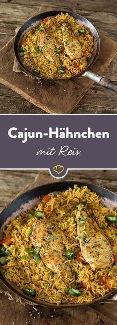 Du brauchst lediglich ein paar frische Zutaten, eine gute Pfanne mit Deckel und den selbstgemachten Cajun-Gewürzmix für eine Extraportion Geschmack.