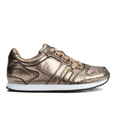 H&M gold crackle sneakers || sold out