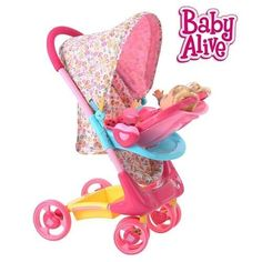 Baby Alive Doll Stroller Travel System Playset NEW Stroller Car Seat Accecories #Hasbro