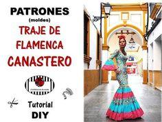 DIY. Cómo hacer los PATRONES (moldes) del TRAJE DE FLAMENCA CANASTERO. - YouTube Letting Go, Diy, Clothes, Dress Patterns, Flamenco Dresses, Outfits, Clothing, Bricolage, Lets Go