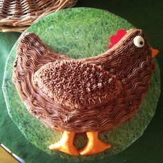 Chicken cake for a chicken party!