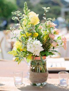 Mason Jar Centerpieces: Styling Your Rustic Wedding - KnotsVilla                                                                                                                                                                                 More