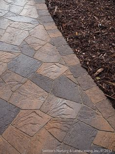 Front Entry Stoop & Sidewalk Renovation : Minnesota River - Brukstone Pavers by Borgert by Switzer's Nursery & Landscaping, via Flickr
