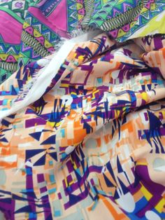 Sourcing Fabrics - Indian colours with geometric print