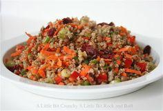 A Little Bit Crunchy A Little Bit Rock and Roll: Lentil Salad with Quinoa and Maple-Balsamic Vinaigrette