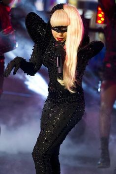 Lady Gaga in total black