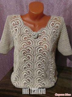 Free, Easy Crochet Sweater Pattern - A Cardigan Made from 2 Hexagons! Freeform Crochet, Filet Crochet, Crochet Motif, Easy Crochet, Crochet Coat, Crochet Blouse, Lace Knitting, Knitting Patterns, Halloween Treats To Make