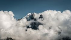 In clouds Winter Mountain, Mountain Landscape, Alps, September, Clouds, France, Outdoor, Mont Blanc, Outdoors