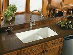 Kohler Iron Tones Cast Sink White Undermount Kitchen Granite Sinks
