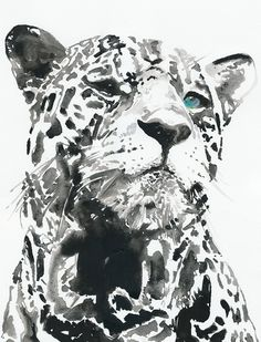 Print of watercolour painting. Titled  - leopard 3. $200.00, via Etsy.