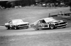 Mustang vs Camaro 1969 Trans Am racing at it's finest