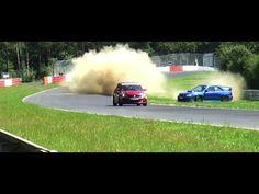 Bei den Touristenfahrten auf der Nordschleife kam es fast zum Unfall des Subarus.. gut und glücklich abgefangen!
