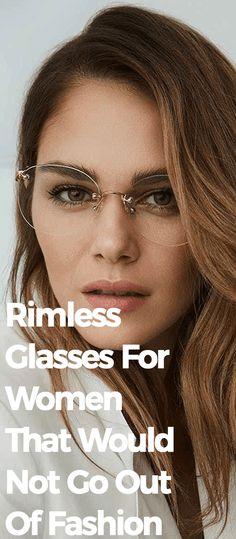 Ladies Glasses, Womens Glasses, Rimless Glasses, Fashion Eye Glasses, Sleek Look, Facetime, Fashion Women, Going Out, Lenses