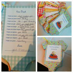 Baby shower game- have each individual write out their wishes for the new baby; have mom pick favorite one; while mom-to-be opens presents string all the game cards together and give them to her as a gift... You can make a cute front and back pack for the book :)