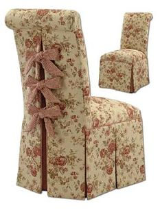 Shabby Chic ♥ romantic side chair i like the roll top
