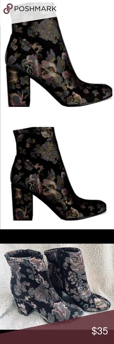 Kenneth Cole Reaction Women's Time For Fun Bootie The sophisticated Kenneth Cole Reaction Time For Fun Bootie is a must-have in your wardrobe. This ankle boot features a chunky heel and an inside zipper. Inside zipper Block heel. Shoe WidthMedium Color-Black Multi Fabric Heel Height3.5 Collection & Style-Time For Fun Bootie Heel Type-Block Heel Kenneth Cole Reaction Shoes Ankle Boots & Booties