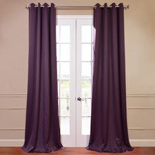 Grommet Plush Blackout Curtain Panel Pair