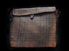 Tsimshian cedar document basket late 19th century