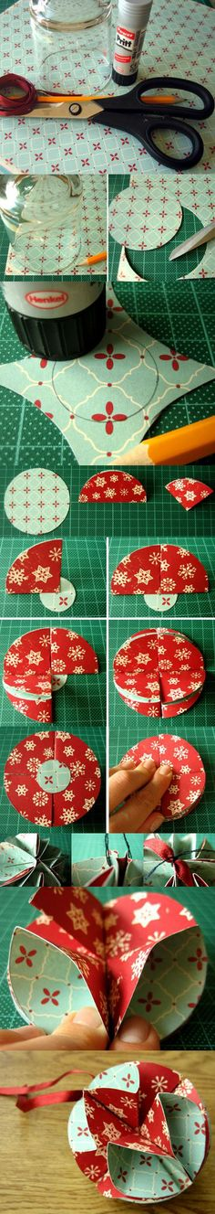 Christmas Globe! This is not quite origami but close enough...