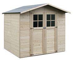 Bricor caseta de madera panelada casa madera infantil for Casetas de madera prefabricadas leroy merlin