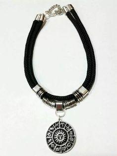 aba9935301c9 collar choker moda cordon negro ancho dijes a eleccion