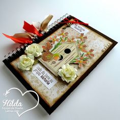 Hilda Designs: Reto #44 en LA&C: Libreta Alterada,  el sello  de Latina Crafter La Vida es,