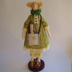 Куклы Тильды ручной работы. Ярмарка Мастеров - ручная работа. Купить Кукла Тильда художница. Handmade. Кукла интерьерная
