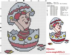 Piglet in the egg cross stitch pattern (click to view)