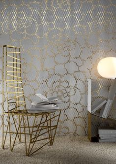 flower gold tile   saudi arabia wallpaper