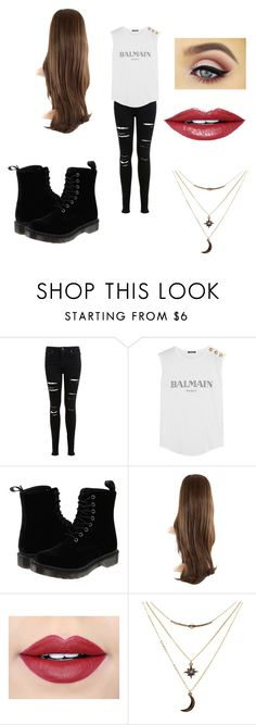 """""""Untitled #65"""" by martinezjorge ❤ liked on Polyvore featuring beauty, Miss Selfridge, Balmain, Dr. Martens, Fiebiger and Charlotte Russe"""