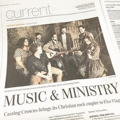 @castingcrownsofficial are in the Current Section in today's @tleegraphherald! Are you ready for #CastingCrowns coming to #Dubuque July 21st?! #Iowa #Christian #Ministry @emmausbibleco #Iowa