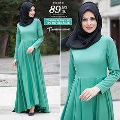 Neva Style - Çağla Yeşili Elbise  #tesettur #tesetturisland