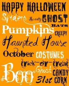 Halloween printable free
