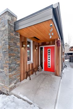Comma-Q Architecture, Bozeman.  Great design and color of the front door. Need to ask Rachel M. about it.