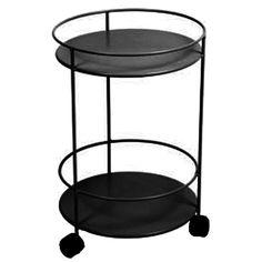 Small table wheels, liquorice i gruppen Havemøbler / Havemøbler / Havebord hos ROOM21.dk (106047)