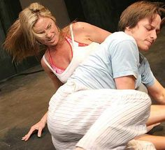 Breathing Corpses - James McAvoy performing as Ben with Tamzin Outhwaite in Spring 2005 at the Royal Court Jerwood Theatre Upstairs Photo credit is unknown but will be given to original poster, if requested.