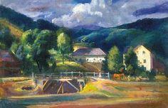 Boldizsár, István (1897-1984) At the bridge in Nagybánya, 1931