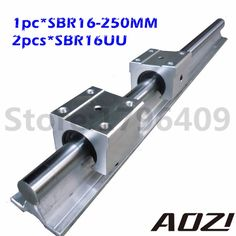 27.71$  Watch here - http://ai8nk.worlditems.win/all/product.php?id=32766756019 - Free Shipping 1PC SBR16 L 250MM Linear Bearing Rail With 2pcs SBR16UU Linear Motion Bearing Block New