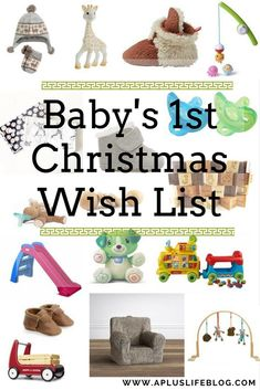 Baby's First Christmas Wish List Babys 1st Christmas, Christmas Gifts For Him, Christmas Gift Guide, Christmas Books, Christmas Birthday, Christmas Wishes, Christmas Ideas, Baby Birthday Wishes, First Birthday Gifts
