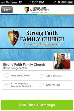 Strong Faith Family Church in Coatesville, Pennsylvania #GivelifyChurches