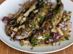 Sardines with Lemon and Mint Salsa