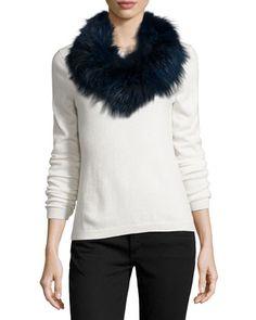 Fox+Fur+Cowl+Collar/Infinity+Scarf+by+Pologeorgis+at+Bergdorf+Goodman.