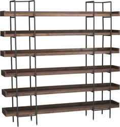 "Beckett Shelving -- CRATE & BARREL --> $ 1,500 Overall Dimensions: Width: 80.25"" --- Depth: 13.75"" ---Height: 79.5"