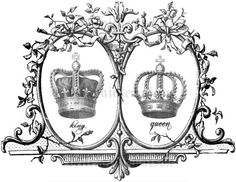 Nice idea for a couple tattoo. Crown tattoo king queen