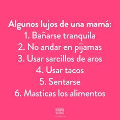 Esos pequeños lujos que una mamá se puede dar de vez en cuando ¿Cuál es el tuyo? https://www.babytuto.com/info