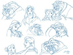 Beauty and the Beast drawings
