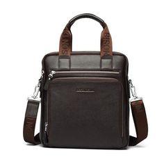 BISON DENIM Genuine Leather Men s Bag Business Shoulder Crossbody Bag  Christmas Gift designer handbags high quality a7433a7ac9df1