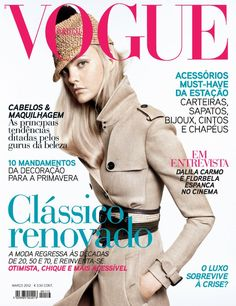 Caroline Trentini by David Sims Vogue Portugal March 2012 Vogue Us, Vogue Korea, Vogue Japan, Vogue India, Vogue Russia, Vogue Magazine Covers, Vogue Covers, High Fashion Photography, Glamour Photography
